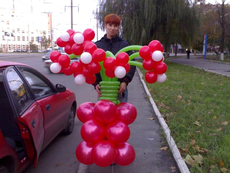 Сделать букет из воздушных шаров своими руками